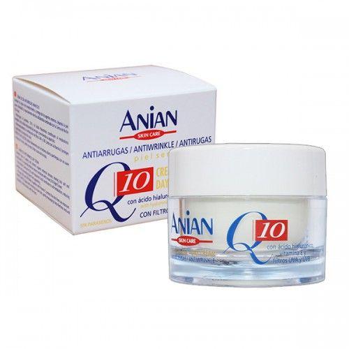 Crema antirid de zi pentru piele sensibila cu coenzima Q10, Acid Hialuronic si Vitamina E, fara parabeni.