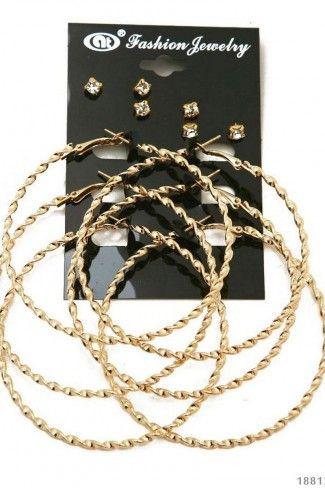 Σκουλαρίκια κρίκοι - Χρυσό
