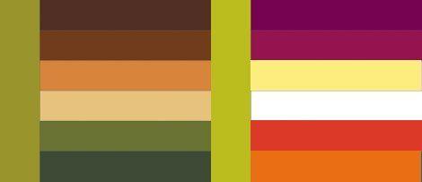 Таблица сочетания цветов с фото - зеленый, хаки