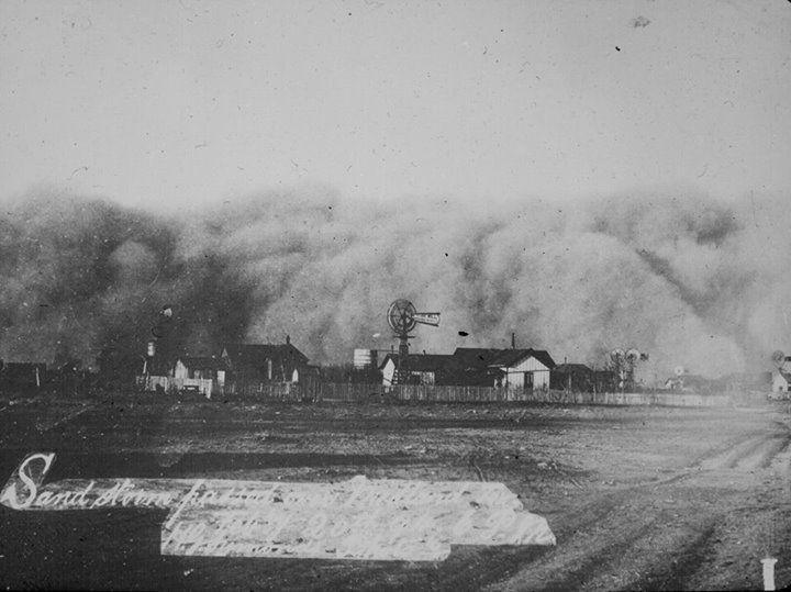 Sand Storm, Midland, Texas, 1894