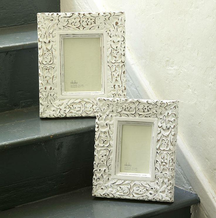 aster carved photo frame by nkuku   notonthehighstreet.com