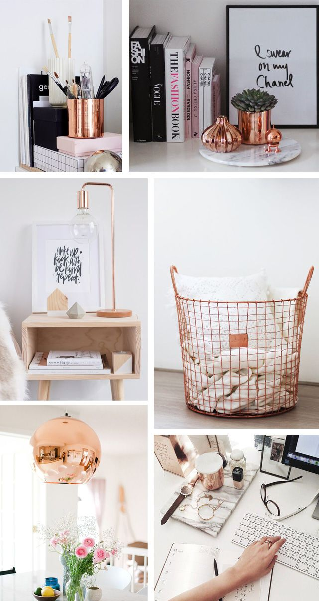 Embrace the copper trend and add a contemporary edge that will look great all year round