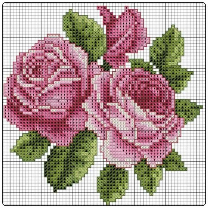 Pink roses chart
