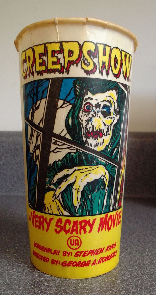 Vintage SOLO Creepshow Movie Theatre Wax Soda Cup from the collection of Gregg Koenig.