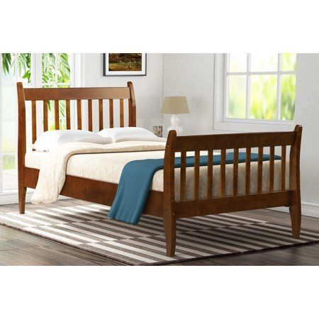 Merax Modern Farmhouse Style Pine Wood Twin Size Bed ...