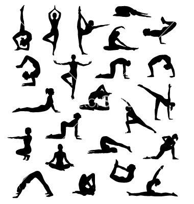 yoga poses vector art  download yoga vectors  115841