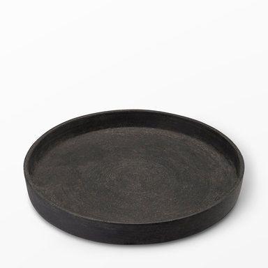 Ljusfat, Ø24,5 cm, svart