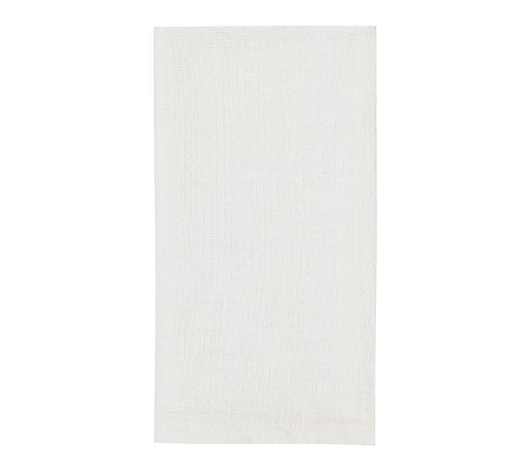 Organic Cotton Casual Napkin, Set of 4 - White