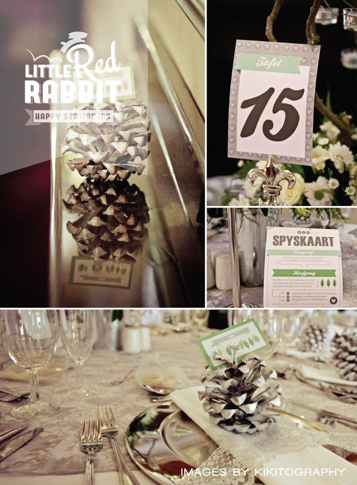 Dullstroom forest wedding designs by Little Red Rabbit.