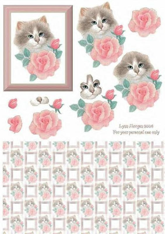 Free Card Making Ideas And Printables Part - 43: Free Printable Cards, Cat Cards, Diy Craft Projects, Card Crafts, Paper  Crafts, 3d Sheets, Cardmaking, Decoupage Ideas, Decoupage Paper