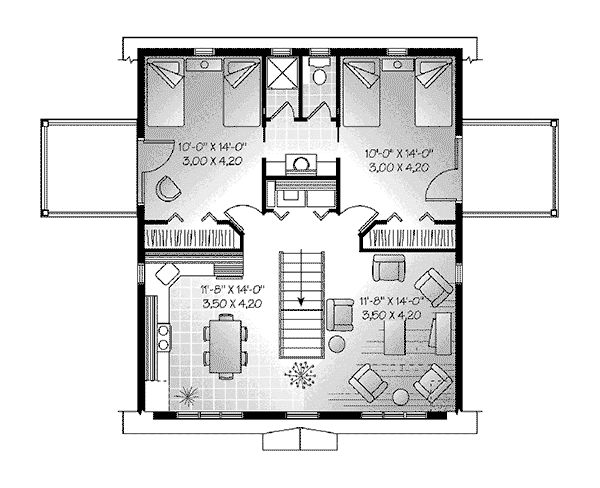 two car garage with a above apartment | Juliet Two-Car Garage Apartment Plan 113D-7501 | House Plans and More