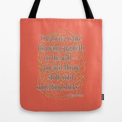 Design Spaghetti Tote Bag by Nameless Shame - $22.00