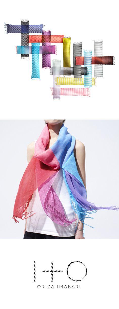 ITO(イト)  糸が織りなすランドスケープ。 波を、光を、時の記憶をまとうストール、誕生。  織りの新しい可能性を追求する「工房織座」。 そのこだわりの精神とオリジナルの技術に、時代を呼吸するモード感を融合させたブランド「ITO」。 ITOは糸。そこに、古語の「いと(=とても)」という意味も織り込みました。IMABARIの歴史、自然、風土、そこから発想した独創のカラーリング、そして低速のオリジナル織機が生み出す、どこにもない精緻な織り模様とやさしい風合い。 波をまとい、光をまとい、時間の記憶を身にまとう…。シンプルなストールが、時空を超えてあなたのドラマを紡ぎます。 受賞:グッドデザイン賞(日本)/アジアデザイン賞(香港)/レッドドット・デザイン賞(ドイツ)/ペントアワード(ベルギー)