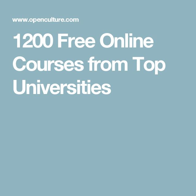 1200 Free Online Courses from Top Universities