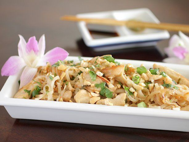 Chicken Pad Thai-making this for dinner, with a couple healthier substitutions....Love Pad Thai!