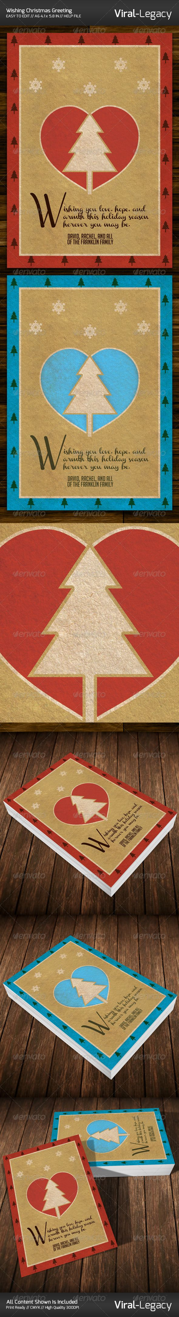 Wishing christmas greeting card graphicriver print templates wishing christmas greeting card graphicriver print templates pinterest christmas greetings and christmas greeting cards kristyandbryce Image collections