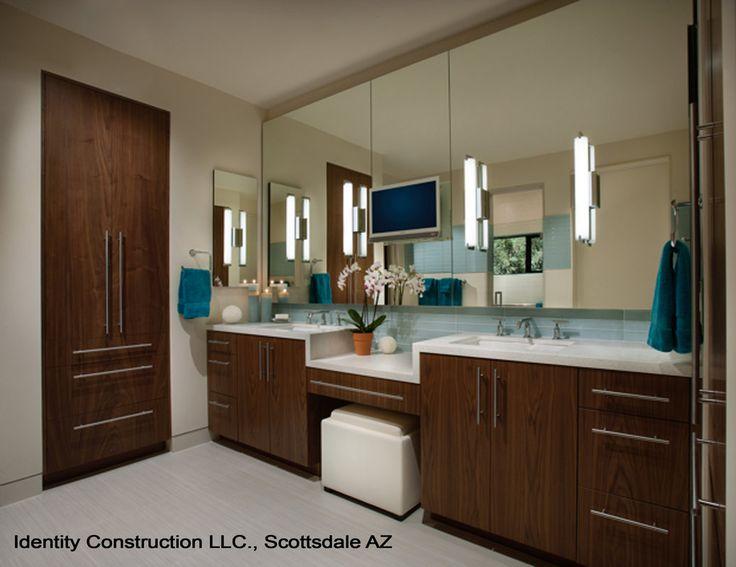 Photos Of Example of darker modern showcasing wood grain Stegmann Residence modern Bathroom Phoenix Identity Construction