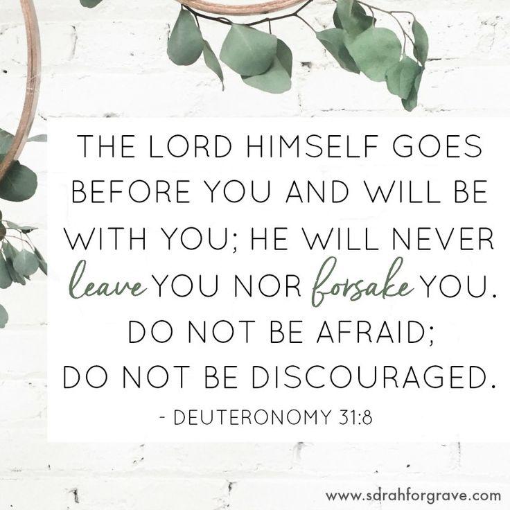 Deuteronomy 31:8 - 6 Biblical Promises for Moments of Doubt | www.sarahforgrave.com