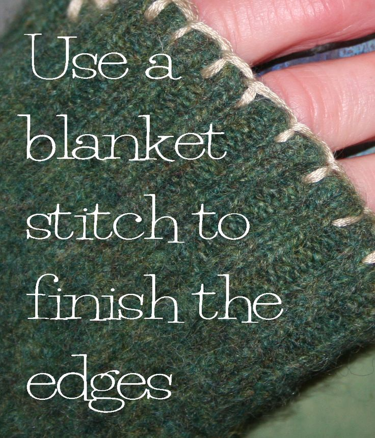 DIY Fingerless mittens from a felted wool sweater5