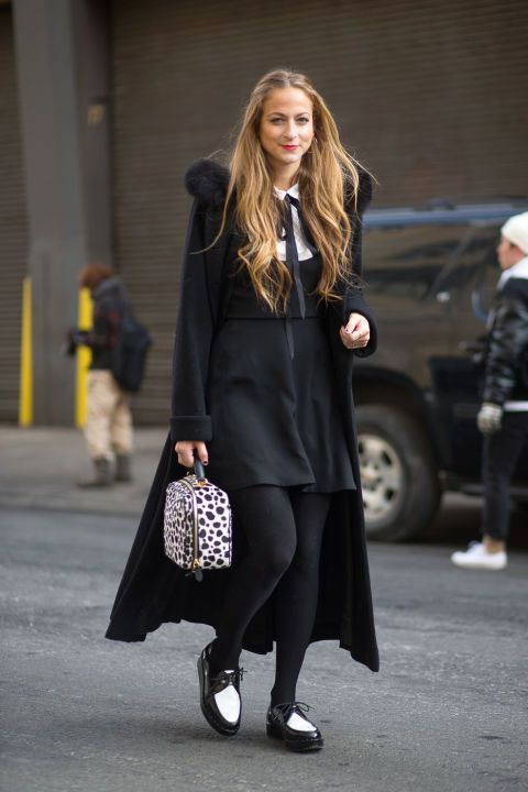 Latest Fashion Week Street Style. Annie Georgia Greenberg does monochrome at New York Fashion Week Fall 2015 #nyfw
