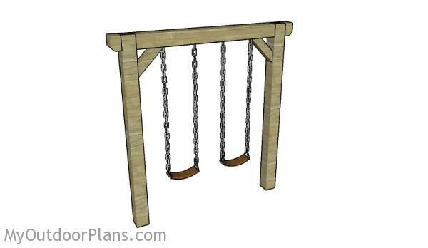 Simple Swing Set Plans | Free Outdoor Plans - DIY Shed, Wooden Playhouse, Bbq, Woodworking Projects