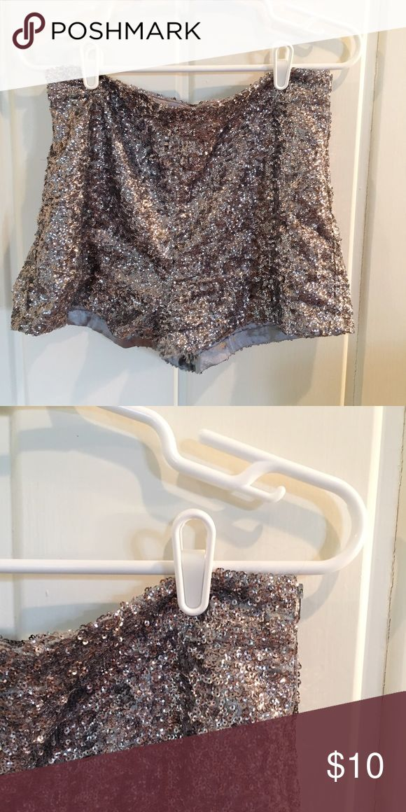 Sparkle Shorts I hate to see these go :( Soo cute with tights and heels! Fun for dressing up !!! Forever 21 Shorts