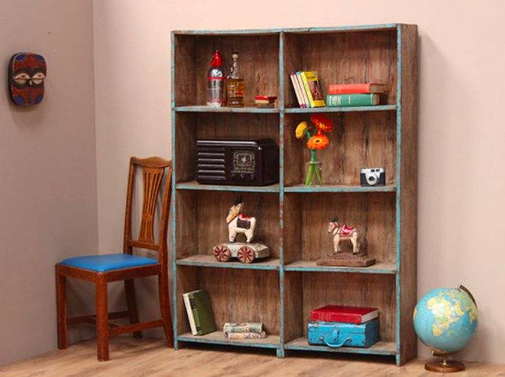 This is a painted wooden section shelving unit that is flexible enough to be used in a hallway, bedroom, kitchen or livingroom. #vintage #storagesolution #homedecor #funituresale