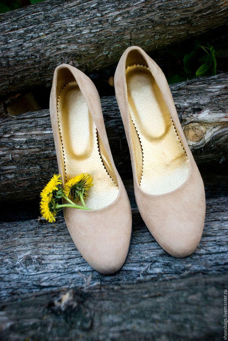 Купить Эко туфли - золотой, экокожа, экозамша, искусственная кожа, искусственная замша, туфли женские