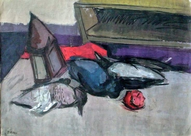 Mario Sironi Expressionist Still Life