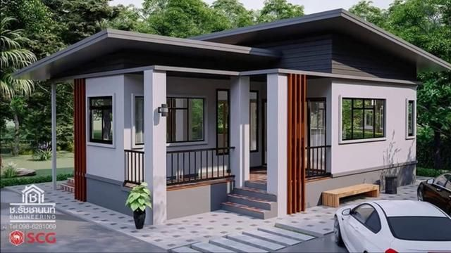 c1ce663c17bfaa66ea96909e53a4d84f - 11+ Modern Two Bedroom Low Cost Small House Design PNG