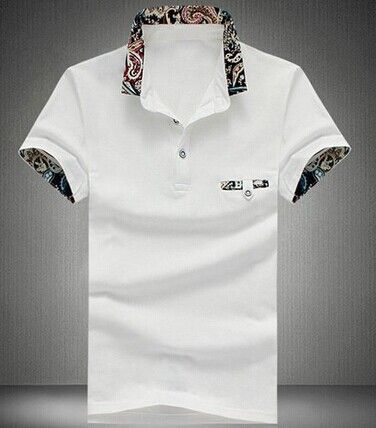 Fashion Style Color Block Print Turn-down Collar Slimming Fake Pocket Embellished Short Sleeves Cotton Polo Shirt For Men Color: BLACK, SAPPHIRE BLUE, WHITE, GRAY, LAKE BLUE Size: M, L, XL, 2XL, 3XL, 4XL, 5XL Category: Men > Men's T-Shirts & Vest   Material: Cotton  Sleeve Length: Short  Collar: Turn-down Collar  Style: Fashion  #solidclortshirtsmen #solidtshirts #mentshirts #tshirts #bridgat.com