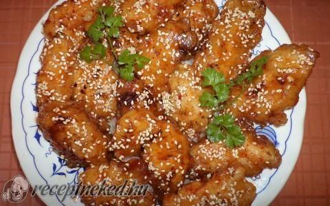 Szezámmagos csirke recept fotóval