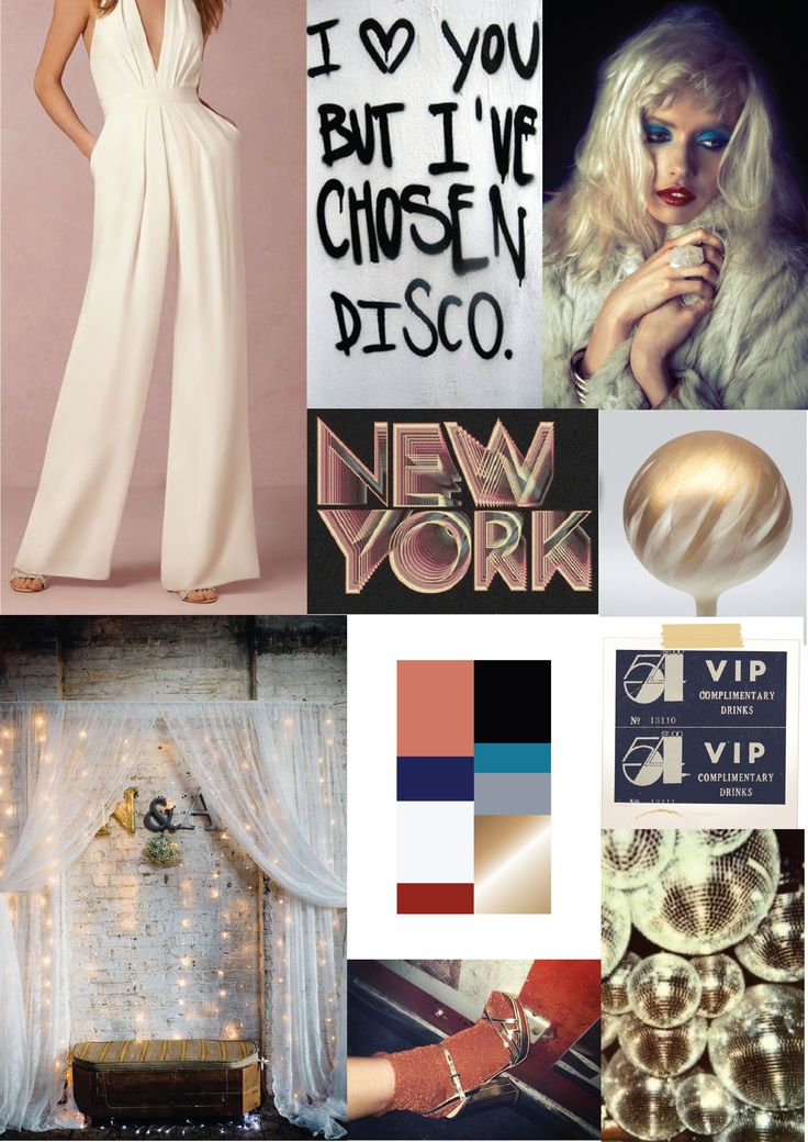 wedding {studio 54} inspiration board