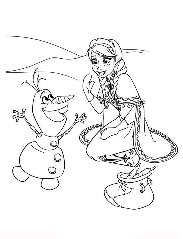 Frozen Coloring pages for kids. Printable. Online Coloring. 54