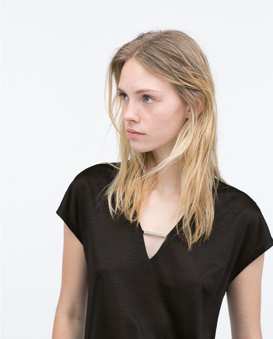 ZARA - レディース - メタルディテールTシャツ