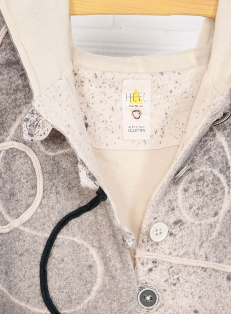 Cardigan 'Swirls', handmade dyeing technique - RECYCLING Collection | Organic Cotton fashion