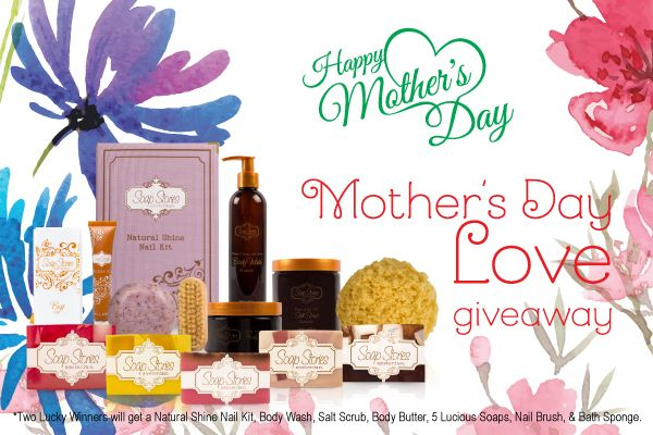 Our Mother's Day Love Giveaway has officially LAUNCHED!!!:)) TWO lucky winners have the chance to each receive a phenomenal bathcare set. Visit our Facebook page to enter!:) <3 #MothersDayLove #Contest #Soapstories