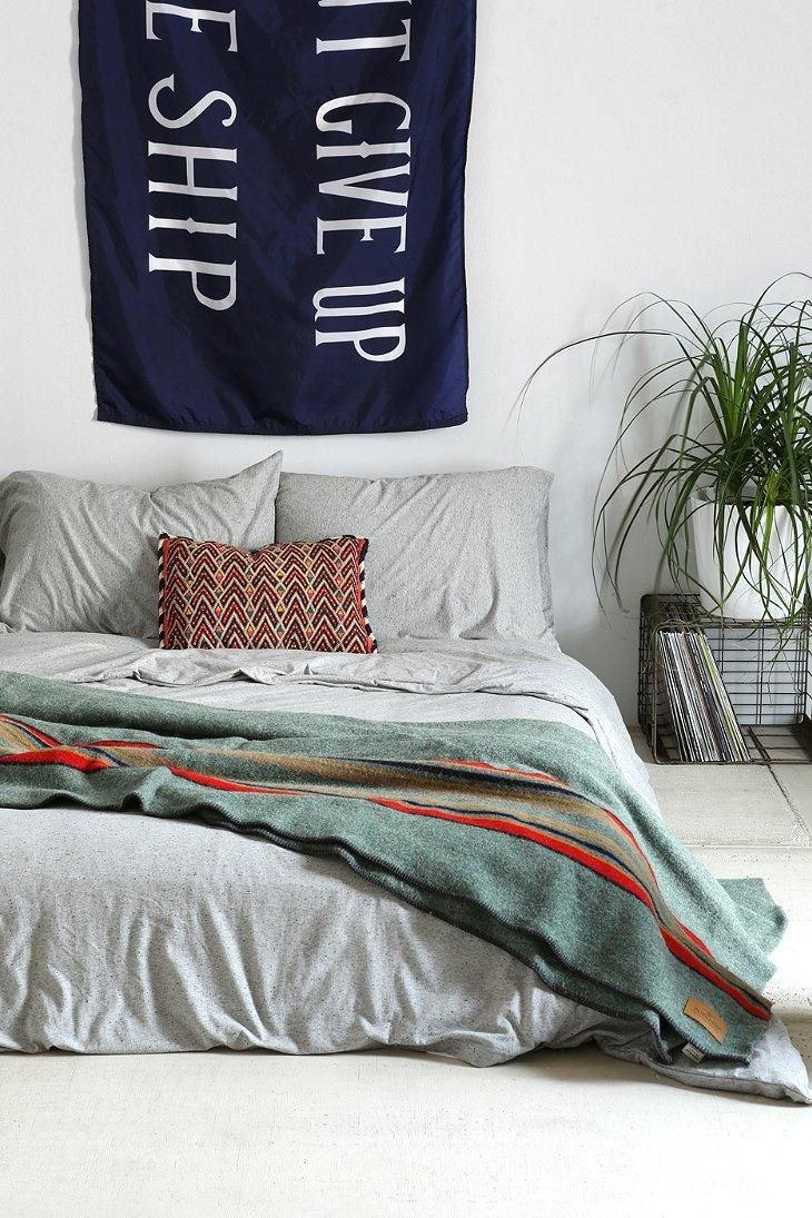 4040 Locust Speckled Jersey Duvet Cover #urbanoutfitters