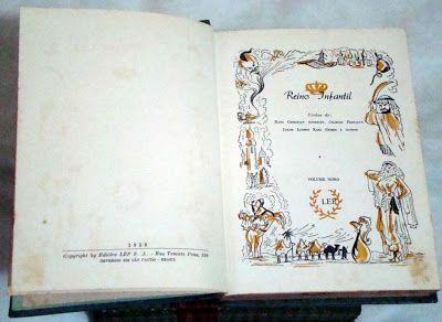 """: """"TESOURO DA JUVENTUDE"""" - """"REINO INFANTIL""""Essa coletânea de contos foi editada nos anos 50 e 60, um tempo em que as fábulas, os contos da carochinha e os contos de fada despertavam o interesse da criançada, levando-a ao mundo da imaginação através da leitura. Algumas histórinhas tradicionais que estavam nessa obra: A Gata Borralheira, Branca de Neve e os Sete Anões, Os Cavalos Encantados, Chapeuzinho Vermelho, O Pequeno Polegar, O Patinho Feio. EDIÇAO DE 1958"""