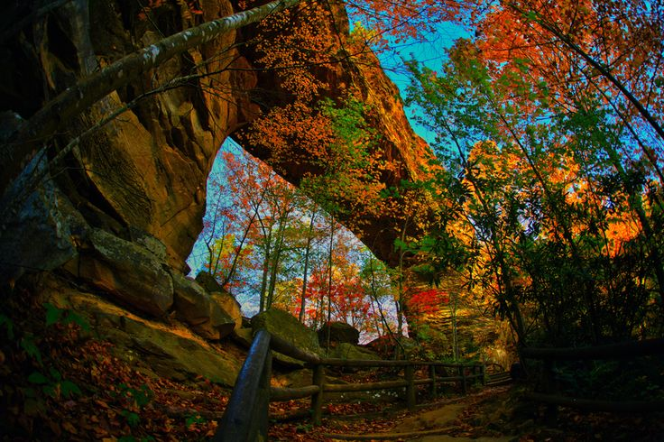 Natural Bridge, in #Slade, #Kentucky. It's so much more beautiful in person! http://parks.ky.gov/parks/resortparks/natural-bridge/