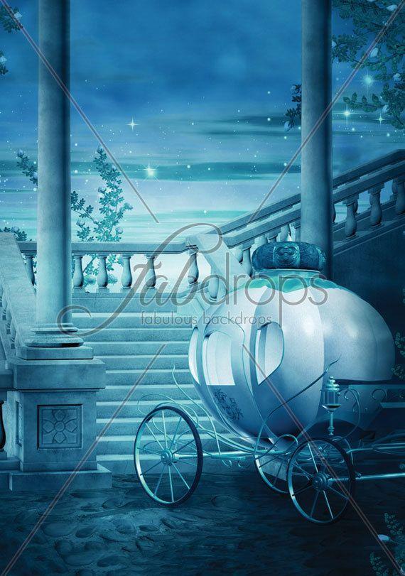 Cinderella Castle Photography Backdrop Fairy Tale