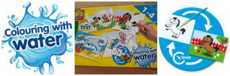 Heerlijk! Nu kunnen kleine kinderen verven zonder geklieder! Gewoon met een kwastje en wat water. SES My First Kleuren met Water is ideaal en superleuk!