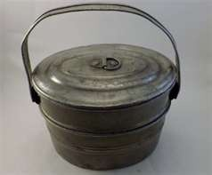 Vintage coal miners lunch bucket