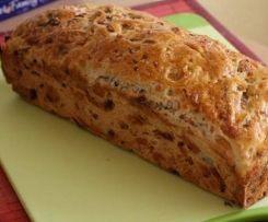 Käse-Schinken Brot ohne Hefe