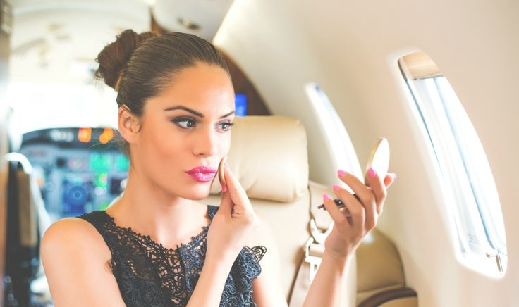 Pre-Flight and In-Flight Beauty Routine
