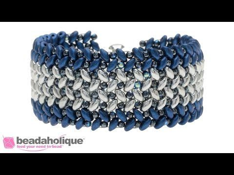 DiamonDuo Bracelet Tutorial- Herringbone Stitch Bracelet - YouTube