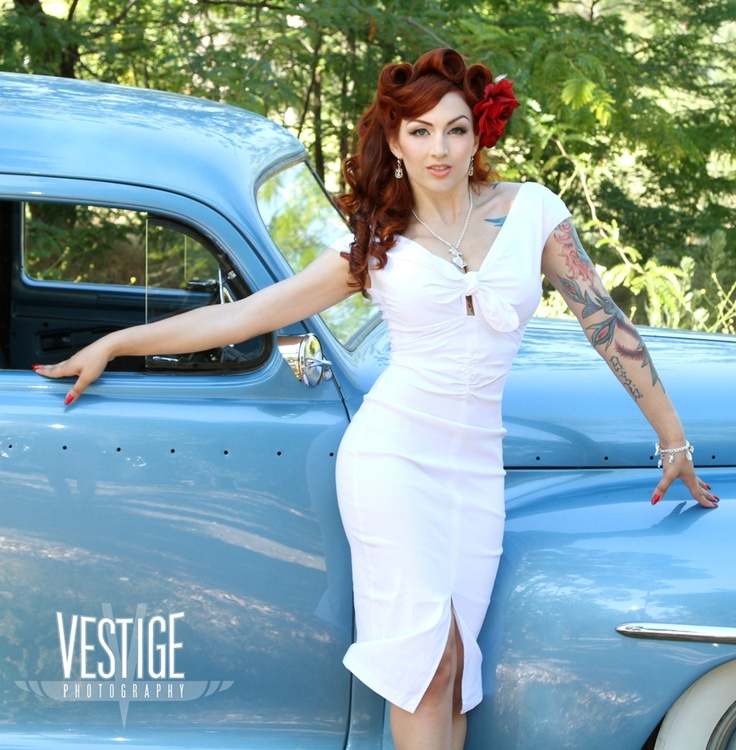 The Niagara Dress In White Bengaline By Dixiefried From Pin Up Girl Clothing