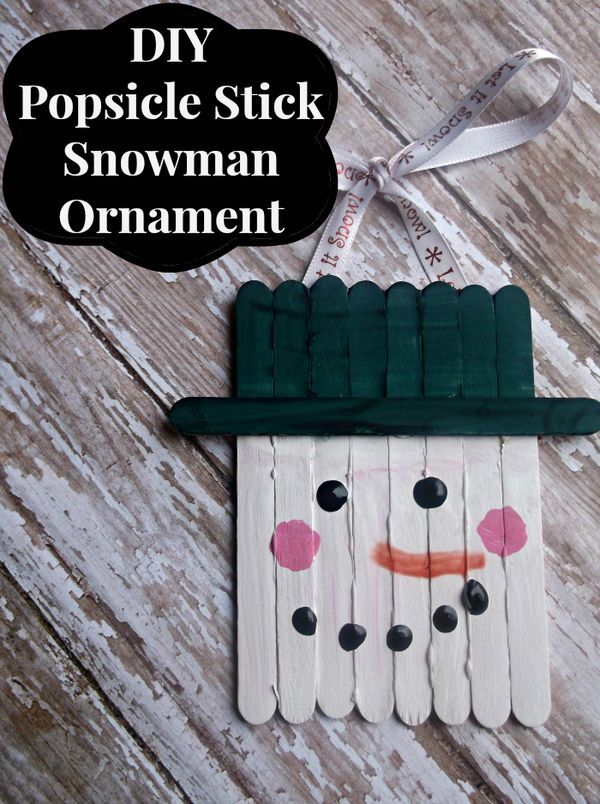 popsicle stick crafts ideas diy popsicle stick snowman ornament easy craft 5243