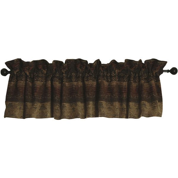 HiEnd Accents Sierra Valance (480 DKK) ❤ liked on Polyvore featuring home, home decor, window treatments, curtains, southwestern home decor, rod pocket curtains, southwestern curtains, rod pocket valances and southwest home decor