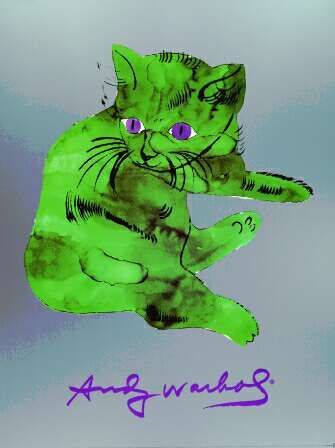 A Cat Named Sam - Andy Warhol 1954  I think this may be the only AW that I have ever liked.